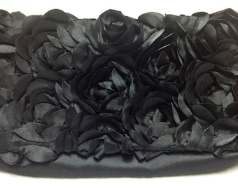 The Black Swan: Crepe Clutch Purse