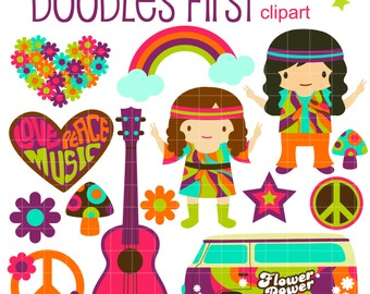 hippie clipart etsy rh etsy com hippie clipart hippie clipart