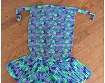 Dress Up Crochet Mermaid Tail-FREE SHIPPING