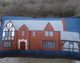 House Portrait in Needlepoint
