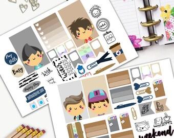 Supernatural Theme Planner Weekly Sticker SMALL Kit, CLASSIC Happy Planner Sticker, Weekly Set, Stickers, Printed, Cut, Angels, Demons