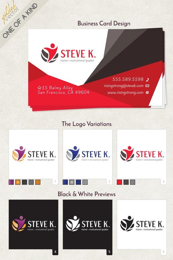 Cool motivational speaker business cards gallery business card speaker logo motivational logo trainer logo consultant toneelgroepblik Image collections