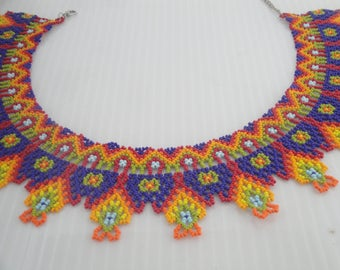 Mexican Necklace/ Choker necklace/ Colorful necklace