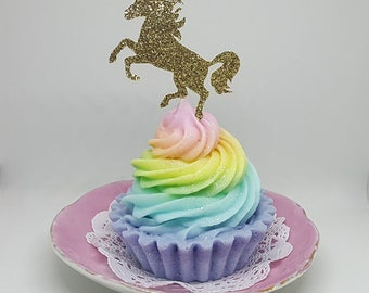 Unicorn Soap Cupcake - Unicorn Lover Gift - Unicorn Soap - Cupcake Soap - Unicorn Birthday Gift - For Unicorn Lovers - Rainbow Unicorn Soap