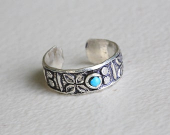 Toe Ring, 925 Silver Toe Ring, Turquoise Toe Ring,, Silver Toe ring, 925 Silver Toe ring; Knuckle Ring