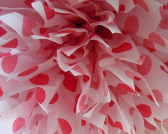 RED POLKA DOT tissue paper pompom circus pirate carnival theme first birthday decorations minnie mouse ladybug queen of hearts