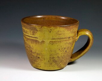 Yellow Pottery Mug