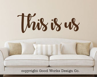This is us vinyl wall decal - wall sticker - family wall decal - this is us wall decor