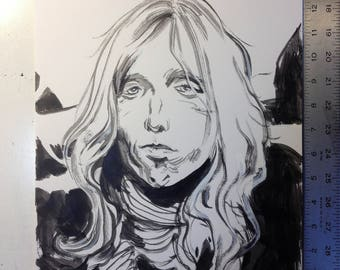 "Inktober Unused ""Tom Petty"" Original art"