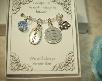 Miscarriage Necklace -- MC -- Remembrance Necklace -- Memory Necklace -- Infant Loss - Pregnancy Lost - Loss of a child - Memorial Jewelry