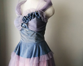 1950's forget me not dream dress
