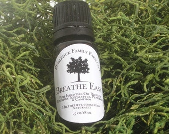 Breathe Easy AromaTherapy Blend for Congestion