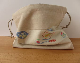 Cherry Jam Drawstring Project Bag
