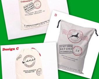 Sale santa Sack, Christmas sack, tote, Santa's delivery, special delivery