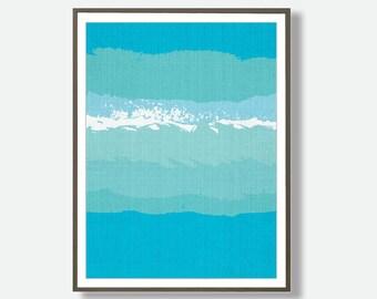 Beach, Modern Minimalist, Modern Beach, Ocean Water, Instant Download, Beach Minimalist Art, Coastal Decor, Printable, Beach Art, Feliss Art