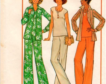 Vintage Simplicity Personal-Fit Pattern 7934 in Half Sizes - Misses Pants, Top and Shirt - 14.5-16.5