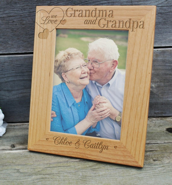 Personalized Picture Frame, Wood Frame, Birthday Gift, Grandparents ...