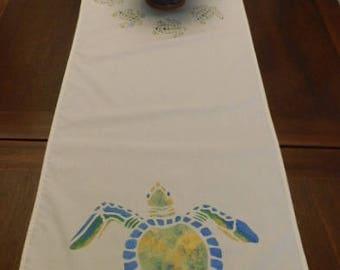 Hawksbill Turtle Table Runner 6 foot