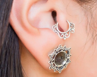 Tragus earring. conch piercing. cartilage earring. tiny hoops. tragus hoop. helix earring. tragus jewelry. tiny earring. 20g earring. tribal