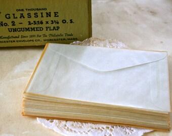25 Vintage Glassine Envelopes