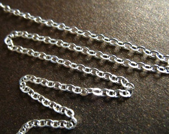 Sterling Silver Chain, 5 10 20 feet, 1.6 mm Upgrade FLAT CABLE Chain, Sterling Silver, 10-40% Less Wholesale Chain, ss s80 hp ,.,
