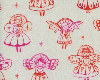 Cotton + Steel Garland Angels Natural 100% Cotton Fabric Red Pink