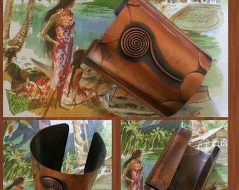 1950s modern copper cuff