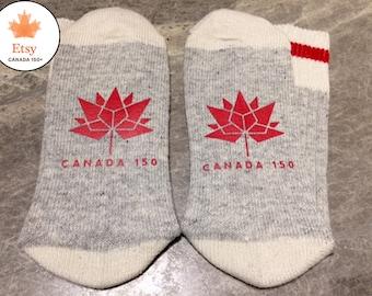 Canada 150 (Word Socks - Funny Socks - Novelty Socks)