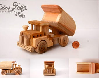 Wooden Truck / Wooden Toy / Wooden Gift for Kid