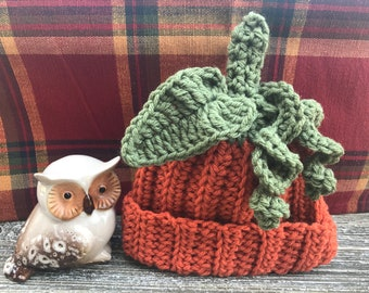 Pumpkin Crochet Hat for Boys, Cozy and Warm Crochet Pumpkin Hat, Baby Pumpkin Crochet  Hat, Crochet Hat Pumpkin Shape For Babies, Baby Gift