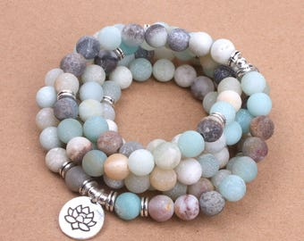 Frosted Amazonite Mala Bracelet - This is a place holder only to get the shop set-up.