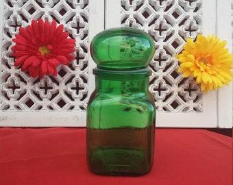 ARIEL green apothecary jar