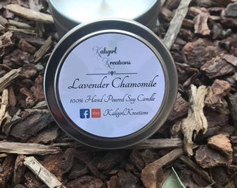 Lavender and Chamomile Soy Candle