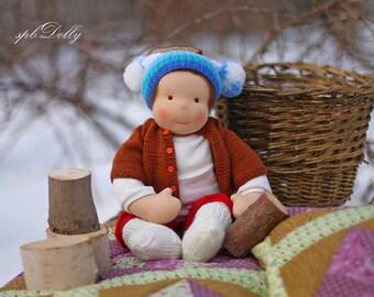 Waldorf  doll -  original handmade Waldorf doll for girls , rag doll, Steiner doll for girls (44 cm  long) - best gift for girl or boy!