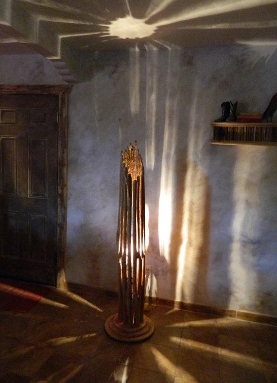 Home Floor Lamp Saguaro Cactus Floor Lamp with Wood Base