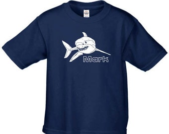 Personalized shark t shirt, custom shark shirt for kids