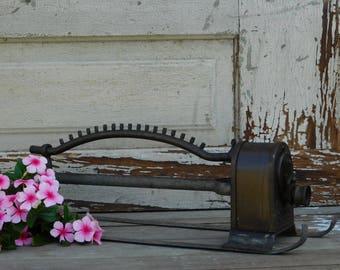 Vintage Brass Oscillating  Sprinkler, Skinner System, Garden Decor