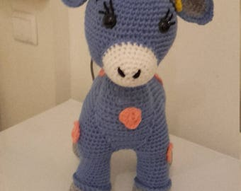 cornflower blue cuddly little cow