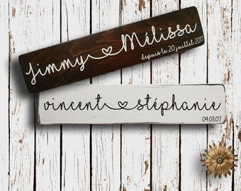 Brand names wood / wood sign / rustic chic / couple gift / wedding gift / Valentine