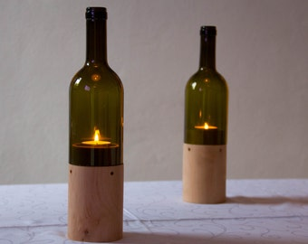 6 Wine Candle Bottles, Bottiglia Vino Candela
