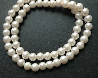 Big glass pearls