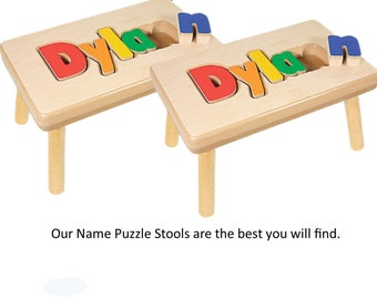 Two Stool Option: Name Puzzle stool, Save 10.00 on shipping