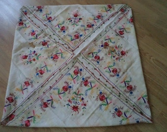 """free shipping  OTTOMAN  silk embroidered scarves  SİZE =  41"""" X 42"""" ( 102 cm X 105 cm)"""