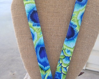 Peacock Lanyard ID Badge Holder