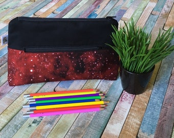 Galaxy pencil case, Pocket for pencils, Cosmetic Bag, Storage pouch