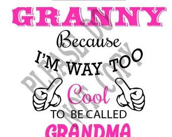 Download Love grandma svg | Etsy