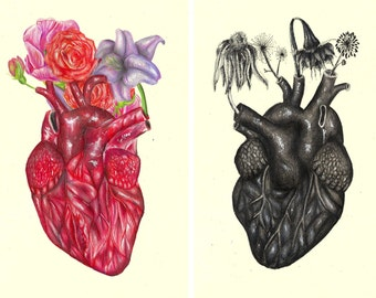 """Heart like yours illustration // Postcard sized - A6, 4.1"""" x 5.8"""""""