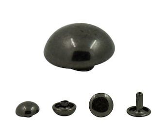 300 pcs.Gunmetal Dome Rivets Studs Double Caps 10 mm . Do Gun 10 0403