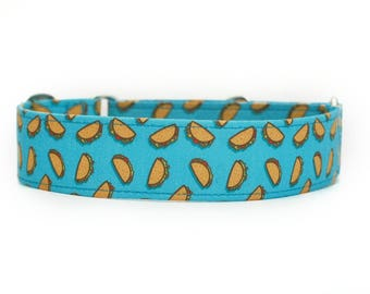 Tacos Dog Collar / Custom Dog Collar / Martingale