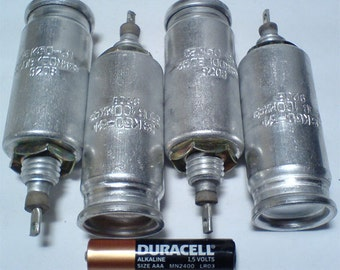 100 uF 350 V Vintage Russian Electrolytic Capacitors K50-31 for tube amplifier, Year 1993. Lot of 5